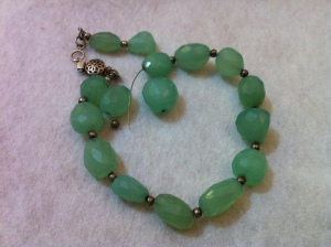 Broken but still cherished Chalcedony necklace