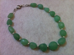 Restrung Chalcedony Necklace