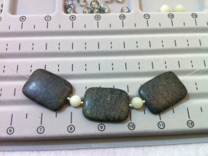 Moss Agate with pale jade beads